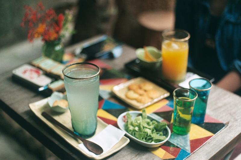 Các loại đồ uống được sắp xếp một cách rất tinh tế.