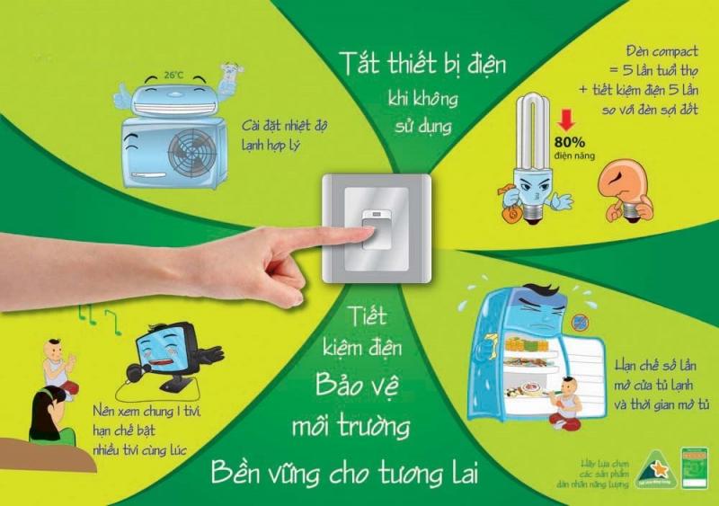 Tắt các thiết bị điện không cần thiết, giúp tiết kiệm tiền điện cho gia đình và bảo vệ môi trường.