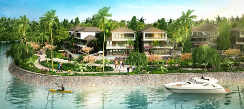 Với diện tích khoảng 4000m2, Resort Quan Lạn Hùng Lâm gồm nhà sàn 2 tầng với 7 phòng