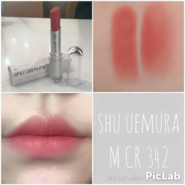 Review son Shu 342 – Màu cam sữa hay màu hồng cam