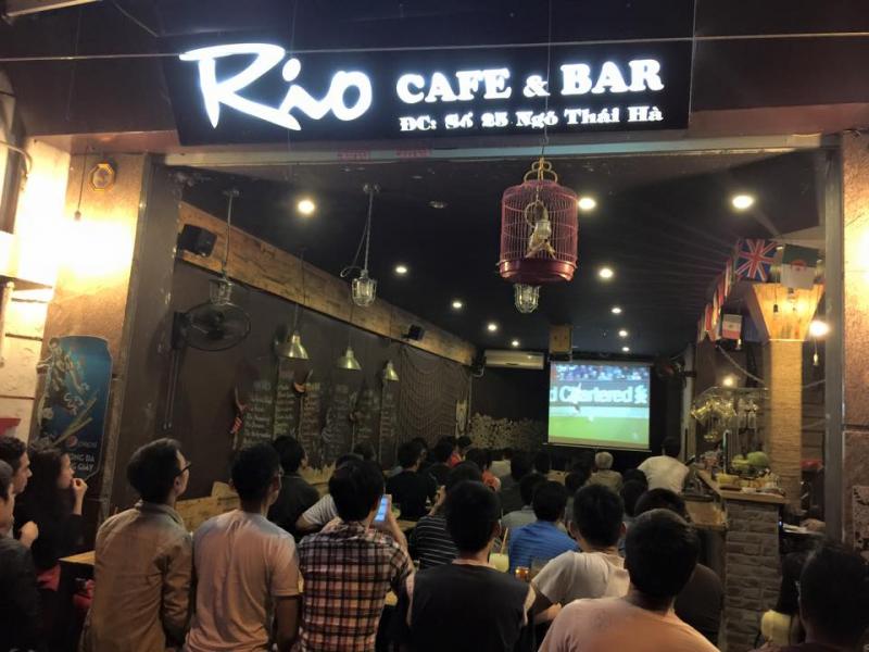 Rio Cafe luôn tấp nập khách vào mùa bóng đá