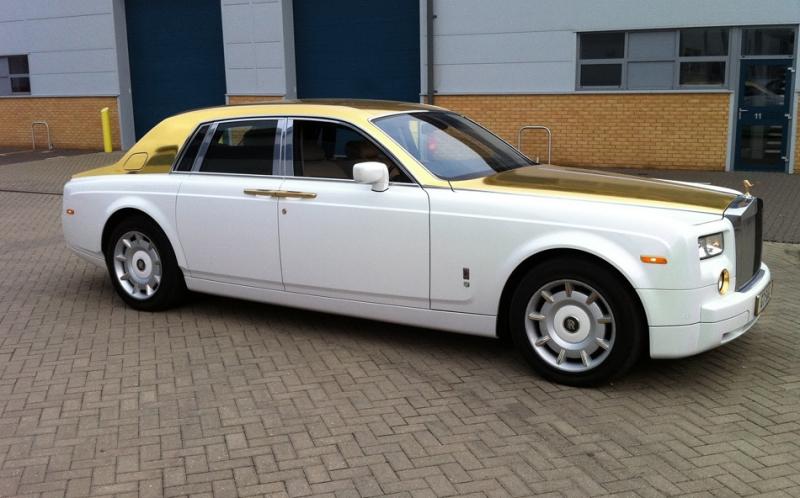 Xe Roll-Royce Phantom Solid gold có giá 8,2 triệu USD