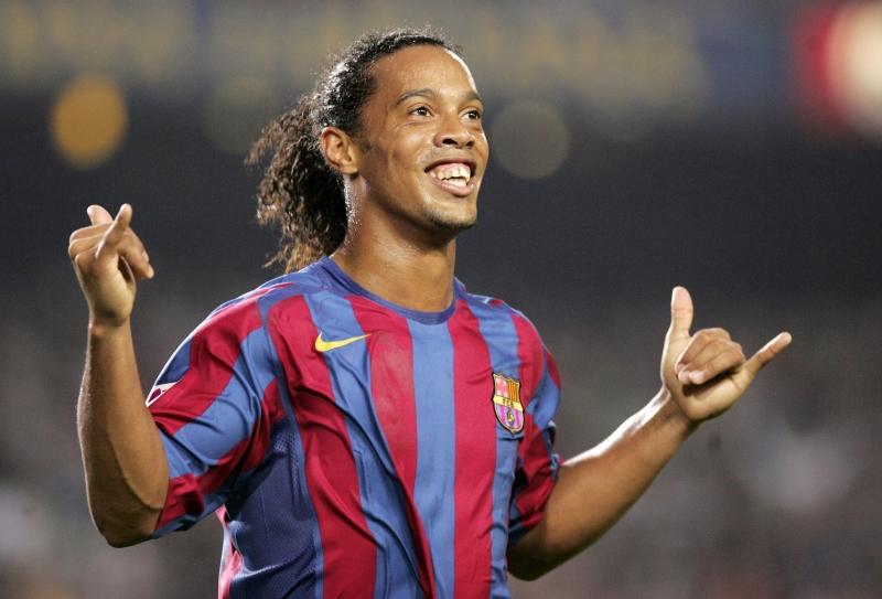 Ronaldinho với nụ cười luôn nở trên môi