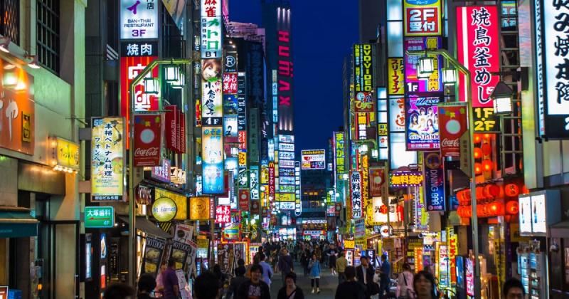 Roppongi nổi tiếng với những trung tâm mua sắm lớn