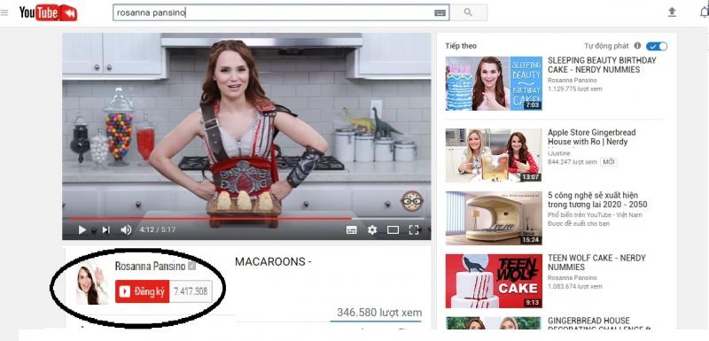 Hơn 7 triệu người theo dõi kênh của cô