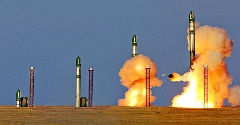 Tên lửa RS-28 Sarmat của Nga.