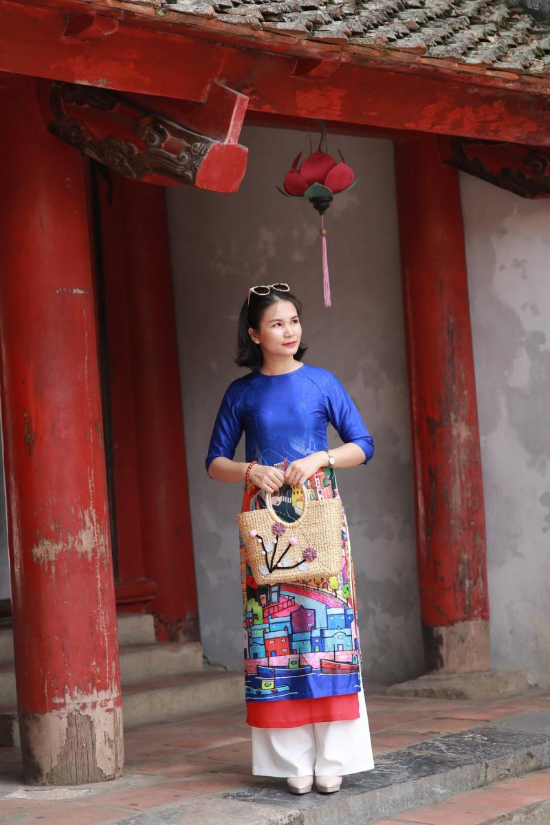 Áo dài cách tân tại Ruby Phạm Ngọc Thạch