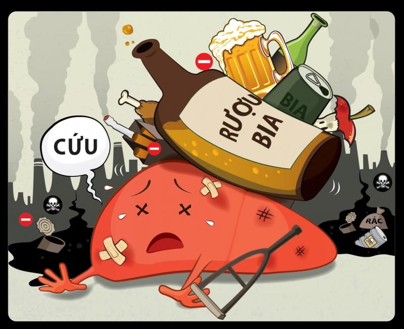 Rượu bia ảnh hưởng đến sức khỏe và môi nguy hại cho làn da của bạn