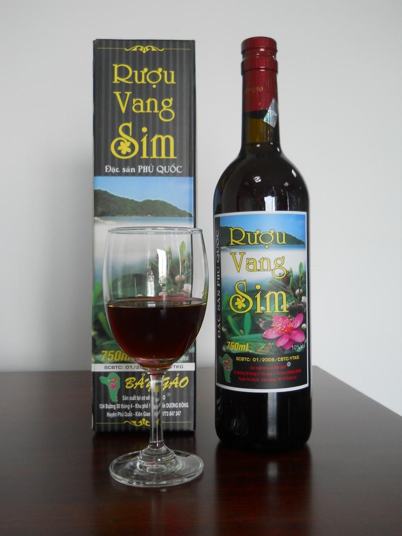 Rượu vang sim đặc sản Phú Quốc
