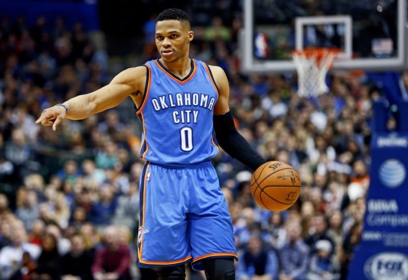 Russell Westbrook gắn bó với Oklahoma City Thunder từ năm 2008