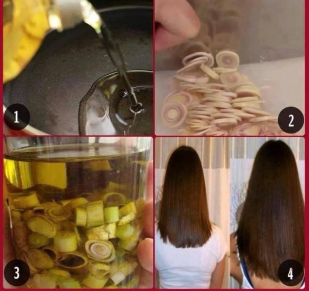 Sả cùng dầu ô liu giúp tóc nhanh dài