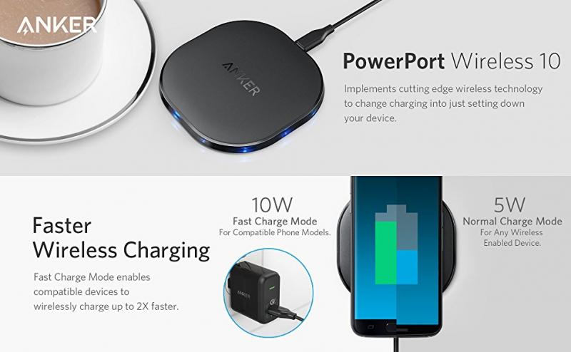 Sạc không dây Anker PowerPort Qi 10W – Giá: 800.000 VND