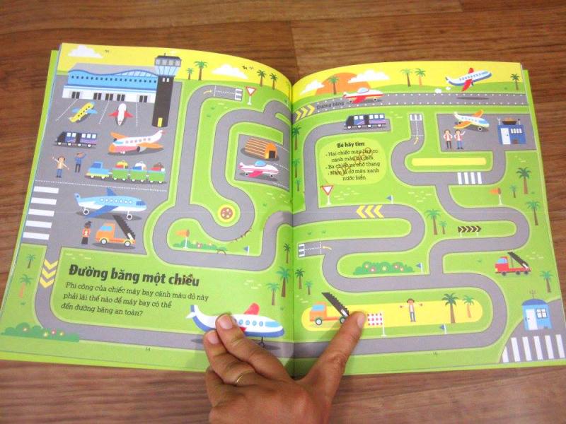 Sách mê cung là loại sách tối ưu giúp phát triển đồng thời 2 bán cầu não của trẻ