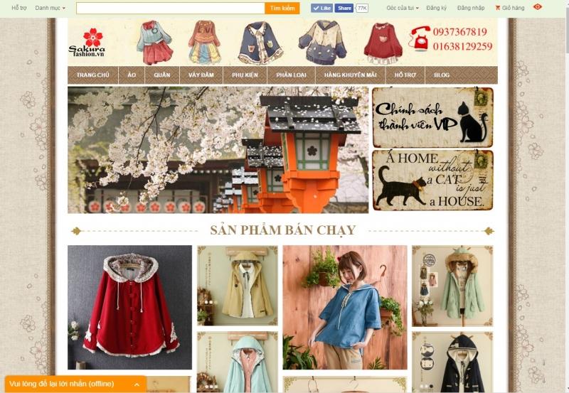 Trang web của Sakura Fashion