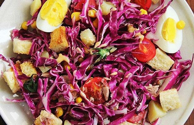 Salad bắp cải giòn tan