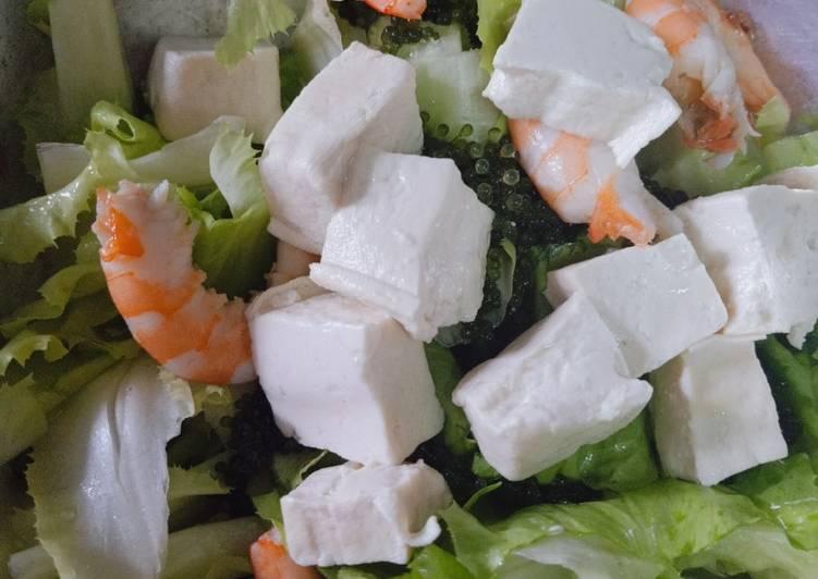 Salad cải caron - rong nho