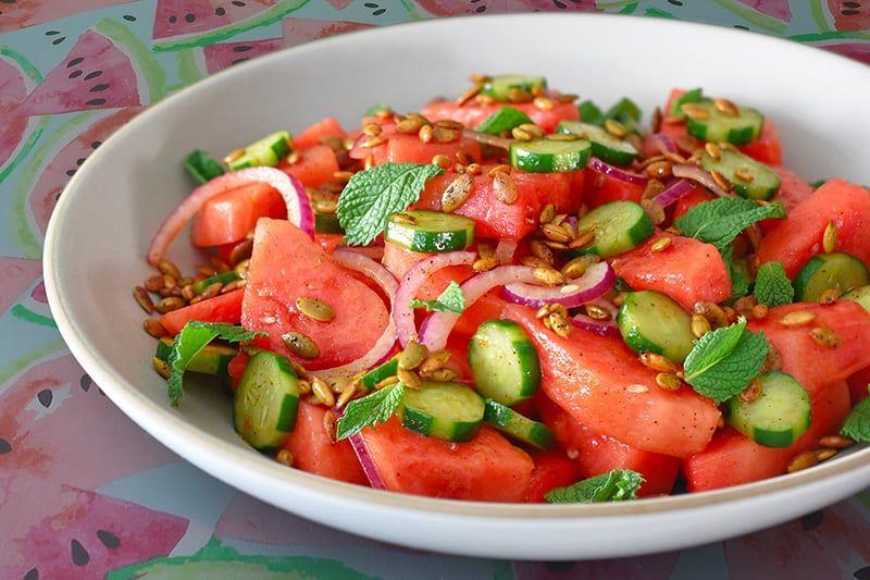 Salad dưa hấu hạt bí