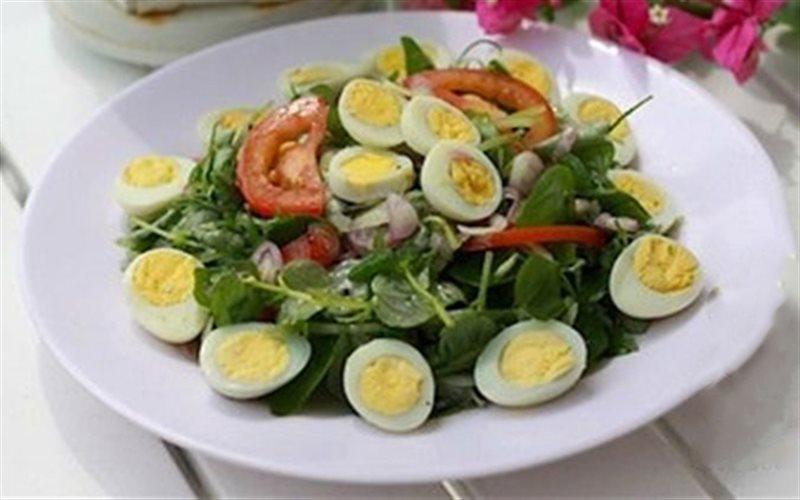 Salad rau càng cua trộn dầu giấm