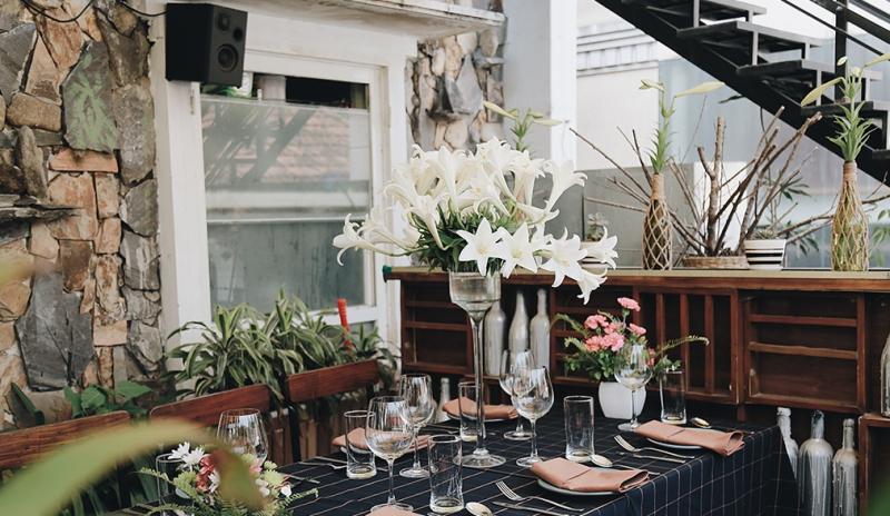 European luxury restaurant space