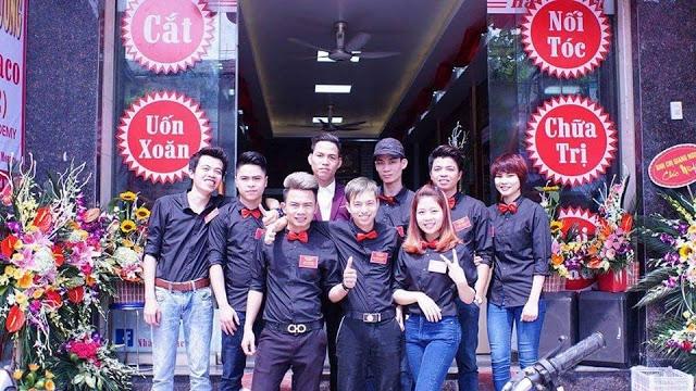 Đội ngũ nhân viên của Salon tóc Nhất Monaco