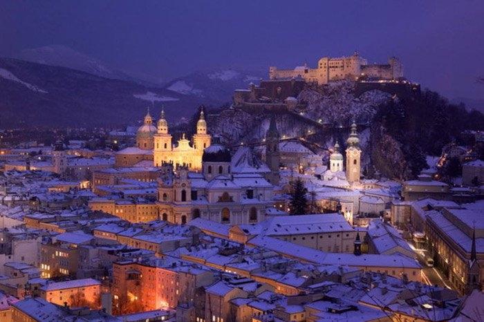 Một góc thành phố lịch sử Salzburg.