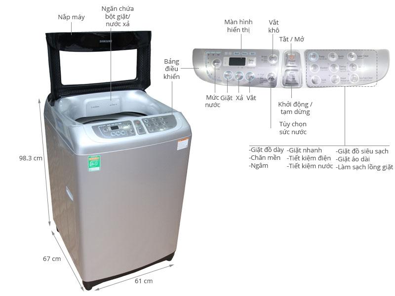 Máy giặt Samsung 11 kg WA11F5S5QWA