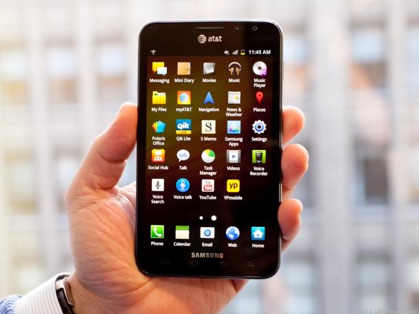Màn hình 5.5 inch của Galaxy Note hỗ trợ tối ưu hiển thị cho người sử dụng
