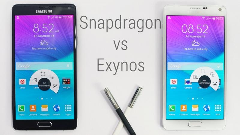 Cuộc chiến giữa Samsung Galaxy Note 4 Snapdragon và Exynos vẫn chưa có hồi kết