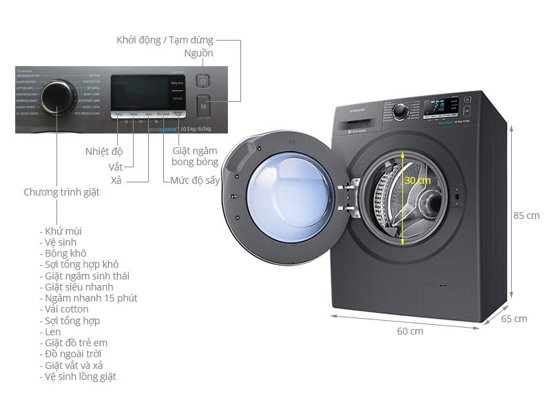 Samsung WD10J6410AX/SV 10.5 Kg