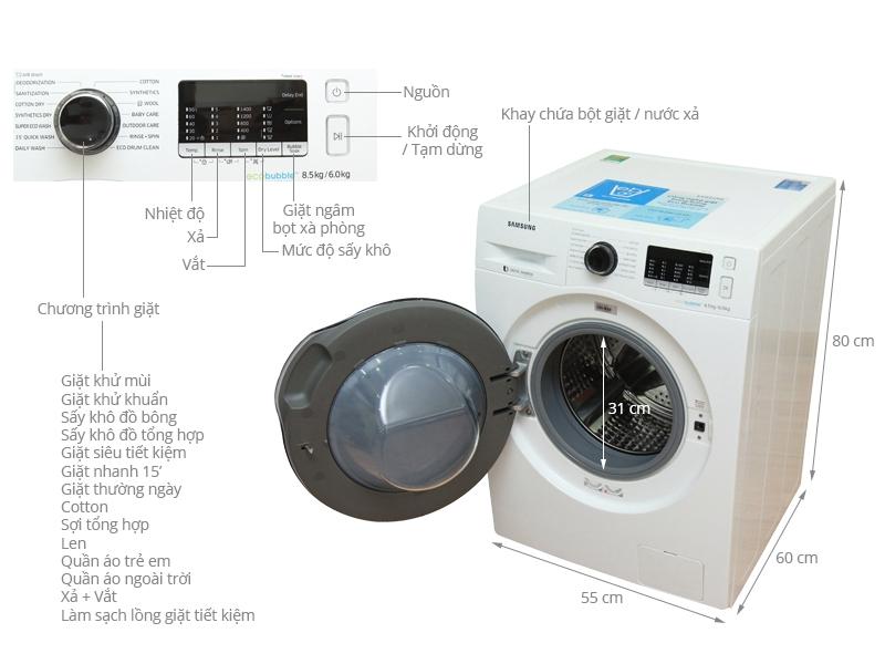 Samsung WD85J5410AW/SV 8.5 Kg