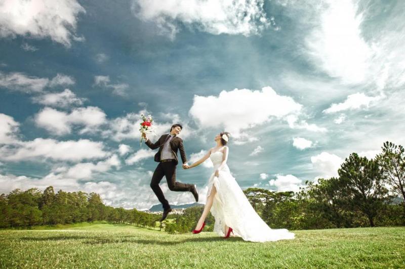 Ảnh cưới tại sân Golf Đà Lạt