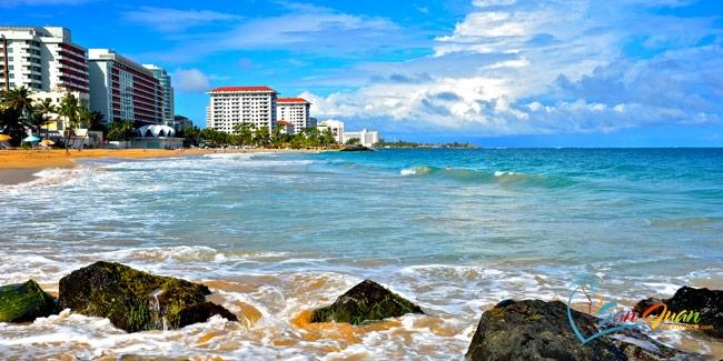 Bờ biển dài của San Juan, Puerto Rico