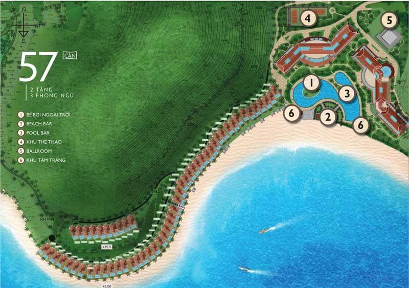 Mặt bằng tổng thể dự án biệt thự nghỉ dưỡng Vinpearl Nha Trang Resort tại Bãi Trũ