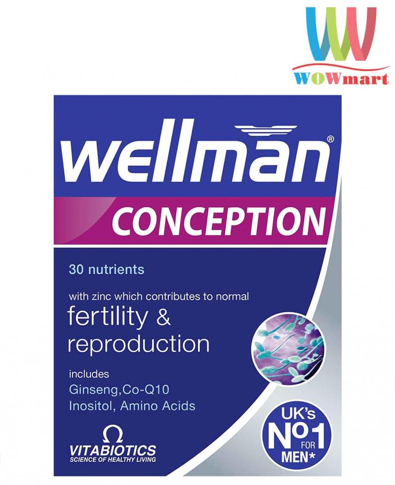 Sản phẩm hỗ trợ sinh sản cho nam giới Wellman Conception