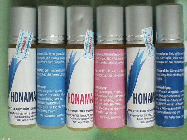 Sản phẩm trị hôi nách, hôi chân Honama