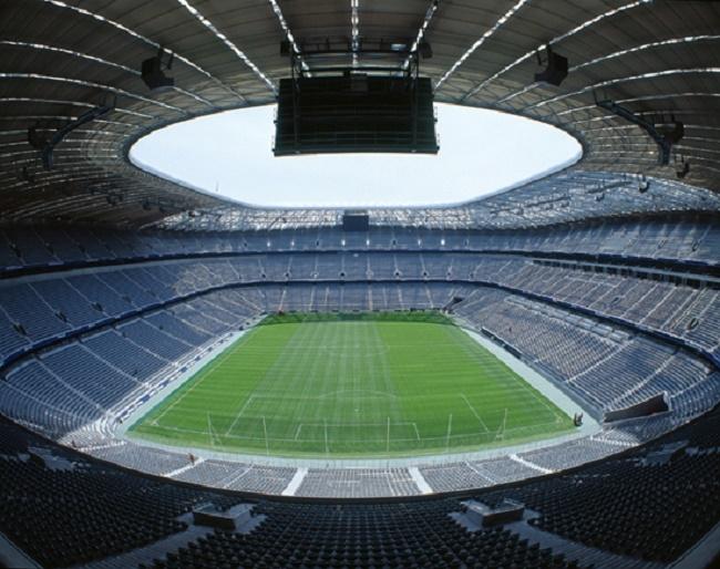 Sân vận động Allianz Arena với thiết kế độc đáo.