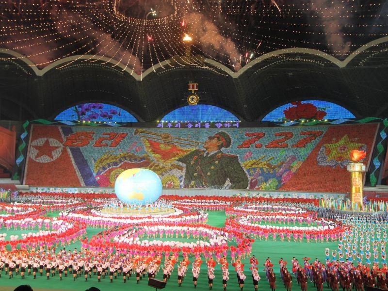 Choáng ngợp với vẻ đẹp xuất hiện trong buổi lễ kỷ niệm 60 năm kết thúc chiến tranh vào năm 2013.