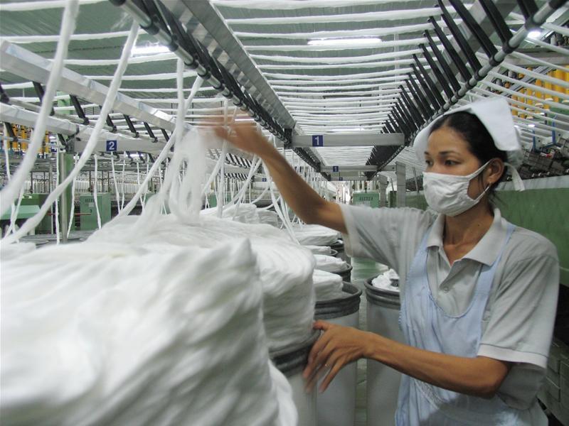 Sản xuất sản phẩm dệt may