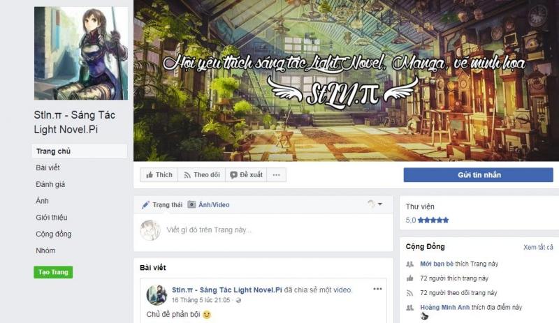 Giao diện Facebook StLN.π