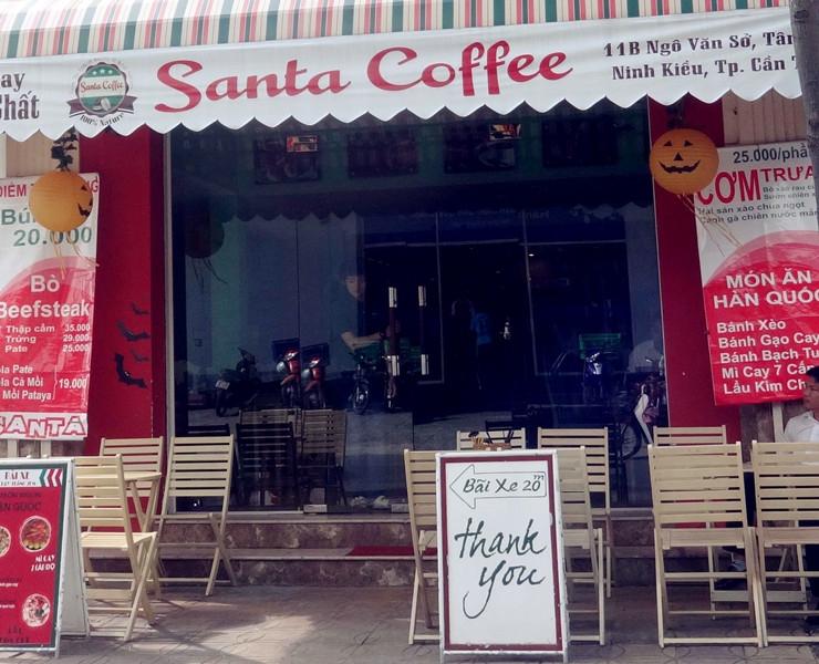 Quán Santa Coffee trên đường Ngô Văn Sở