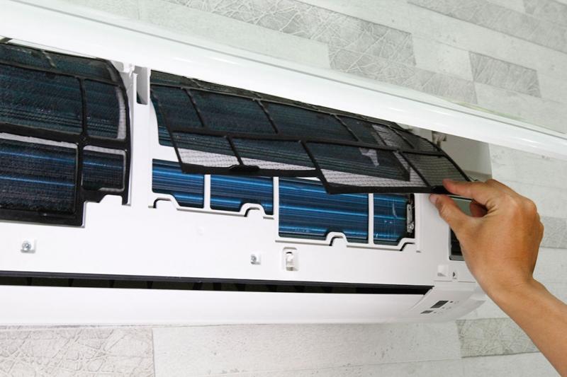 Máy lạnh được thiết kế rất dễ tháo lắp để vệ sinh.