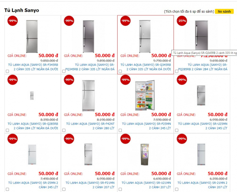 Hãng tủ lạnh Sanyo