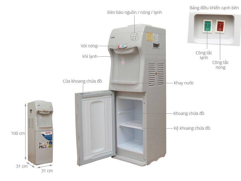 Cây nước nóng lạnh Sanyo SWD-M25HC