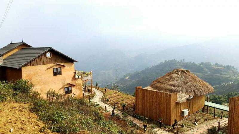 Khung cảnh phía ngoài của Sapa Clay House - Mountain Retreat