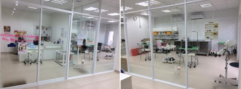 Không gian khu vực spa dành cho thú cưng của Sasaki Animal Hospital