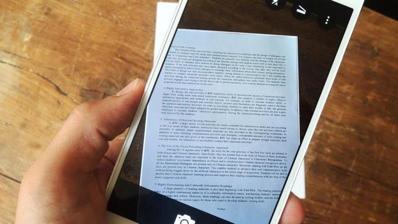 Dễ dàng scan tài liệu bằng điện thoại