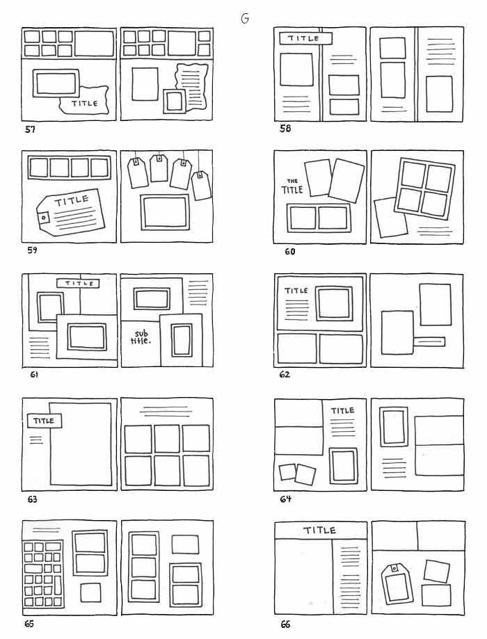 Các cách xếp ảnh trong scrapbook của bạn.