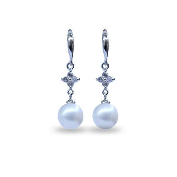 Bông tai ngọc trai Earring Akoya K9R4 (hình ảnh lấy từ website của Sea Pearl)
