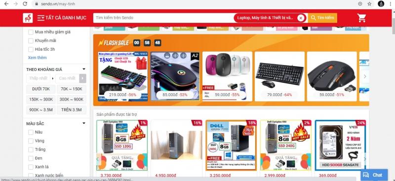 Website Sendo.com