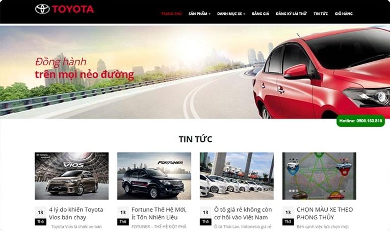 Trang web của Toyota là một sản phẩm của Sentora Việt Nam.